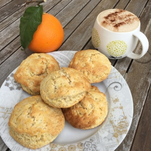 Scones à l'orange et à l'angélique
