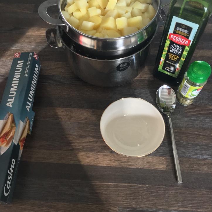 Pommes de terre provençale - Les ingredients