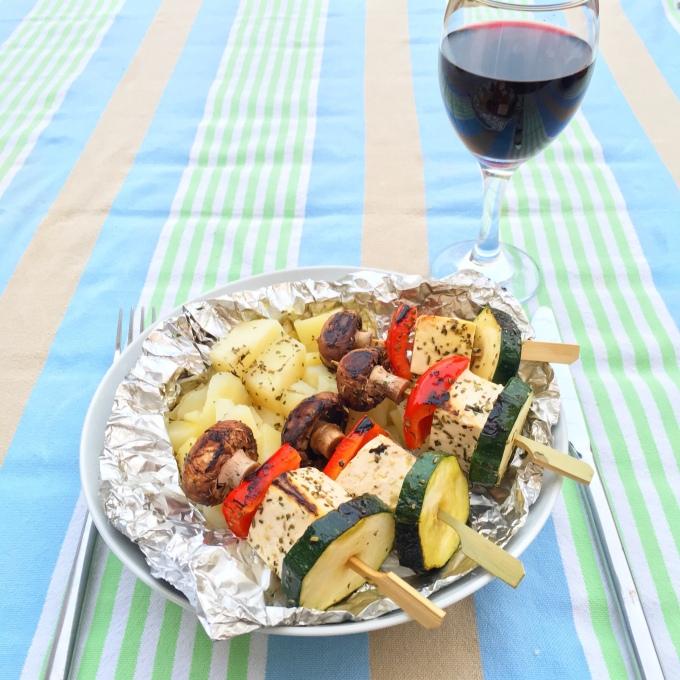 Veggie Skewers + Provencal Potatoes