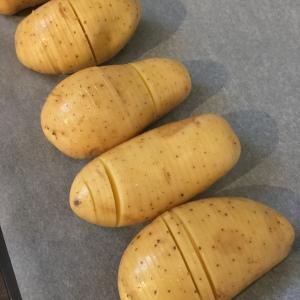 Pommes de terre façon Hasselback.